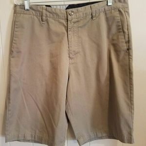 Volcom Mens Frickin Chino Short Brown Flat Front S